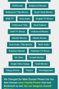 7StarHD: High Quality Bollywood, Hollywood & South Movies Download
