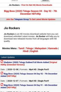 Jio Rockers Free New Movies HD Download Telugu Dubbed Movies 2021