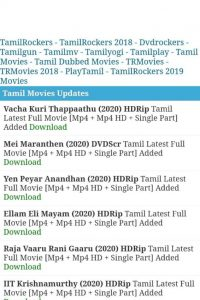 KuttyMovies Download Latest HD Tamil and Hollywood Hindi Dubbed Movies 2021