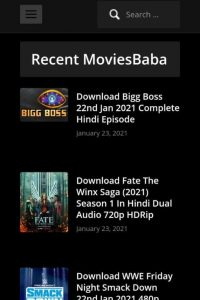 MoviesBaba Latest Bollywood, Hollywood Movies Download 480p, 720p, 1080p 2021