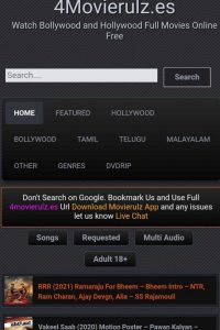 Movierulz Latest Bollywood, Hollywood Free HD Movies Download Website 2021