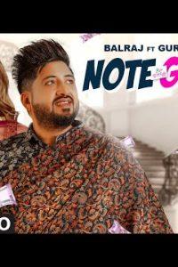 Note Gulabi Lyrics–Balraj | Gurlej Akhtar
