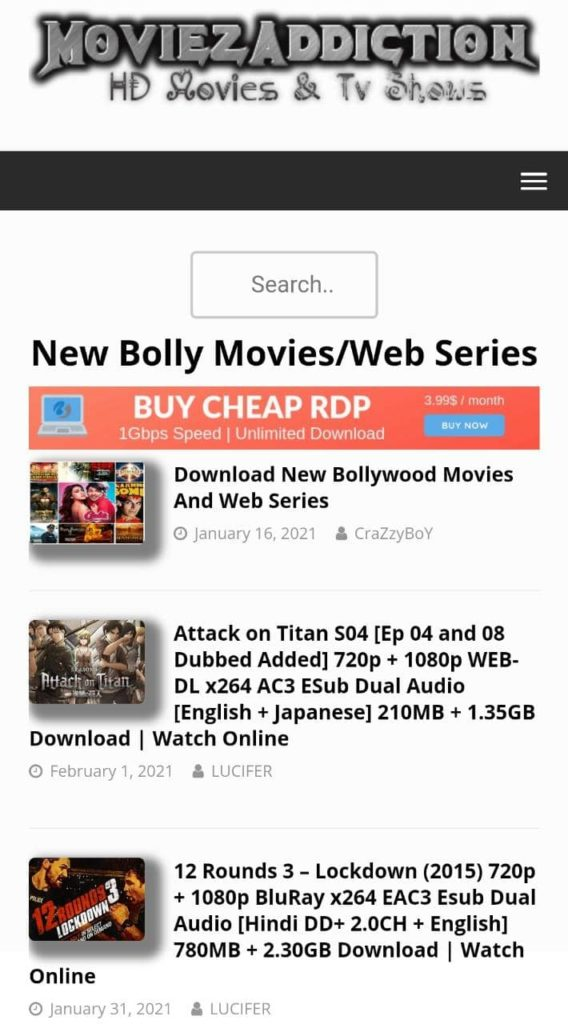 MoviezAddiction 2021:Download & Watch Online Free Latest Bollywood, Hollywood, Tamil Movies