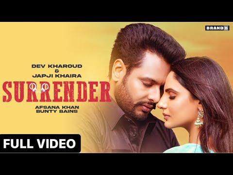 Surrender Lyrics Dev Kharoud | Afsana Khan